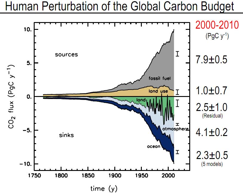 global carbon budget 2000 - 2010