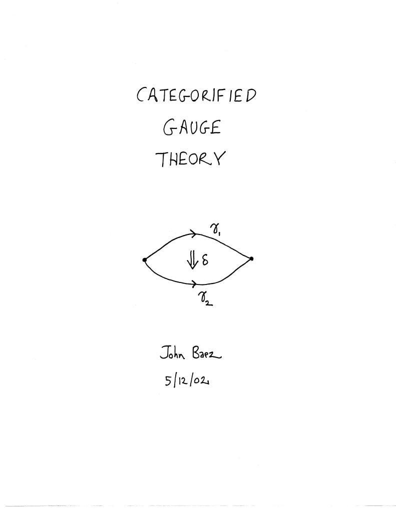 Categorified Gauge Theory