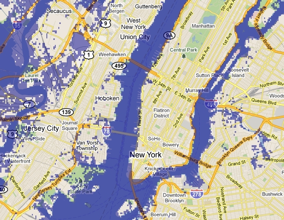 Map Of New York Suburbs.How Sea Level Rise Will Affect New York Azimuth
