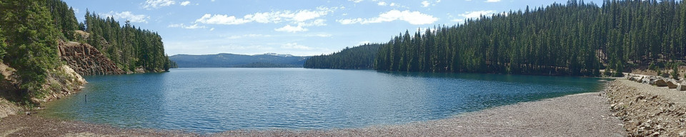 A photo of Little Grass Valley Reservoir in Northern California
